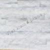 Crystal White S Mix Double chip Marble Wall Panel