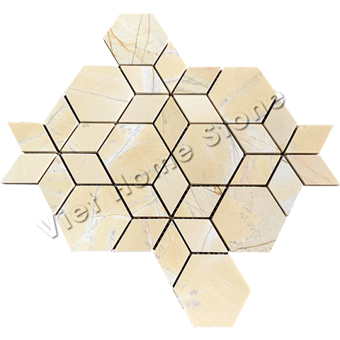 Yellow Hexagram Mosaic