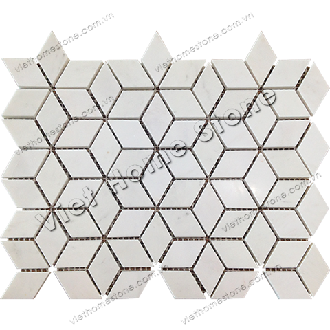 Diamond Flower Marble Mosaic