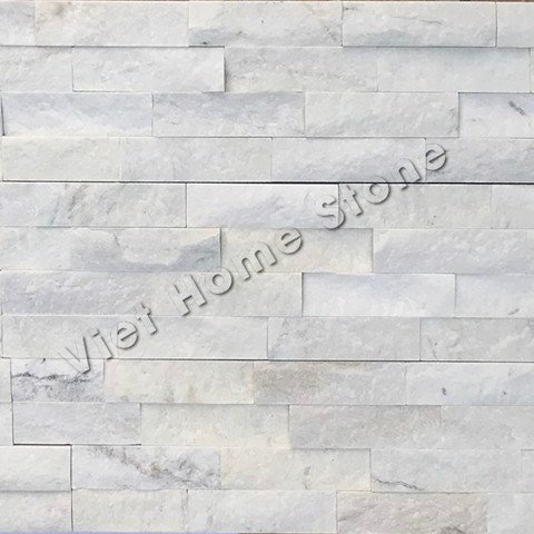 Milky White Ledger Marble Wall Panel