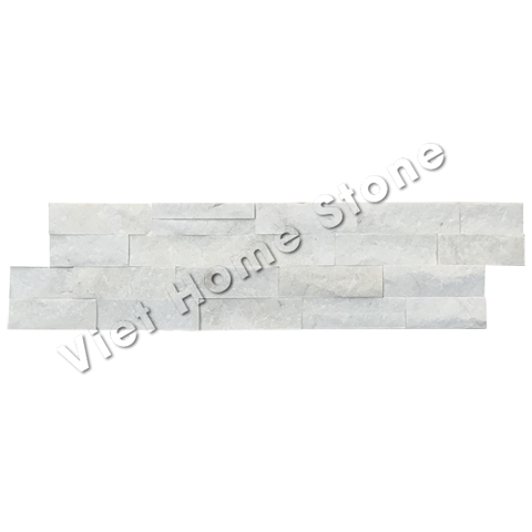 Milky White S double chip Marble Wall Panel