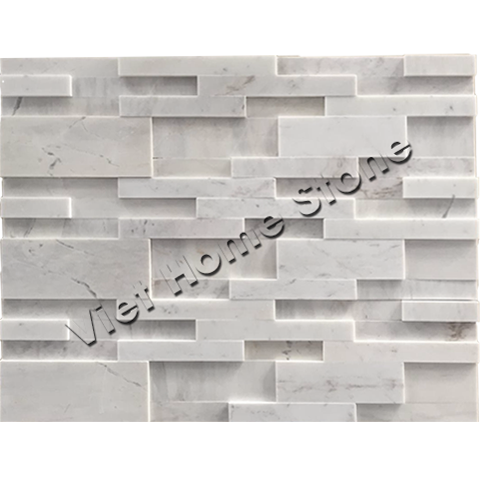 Milky White 3D Wall Panel