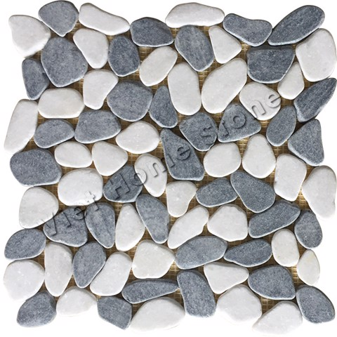 Mixed Color Crazy Pebble Mosaic