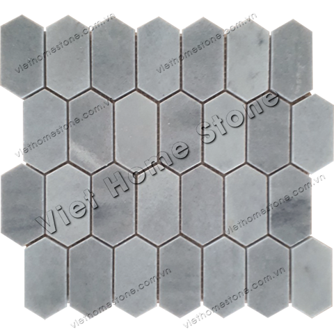 Picket Hexagon Marble Mosaic
