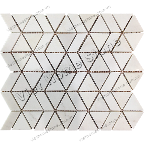 Triangles And Trapezoids Marble Mosaic