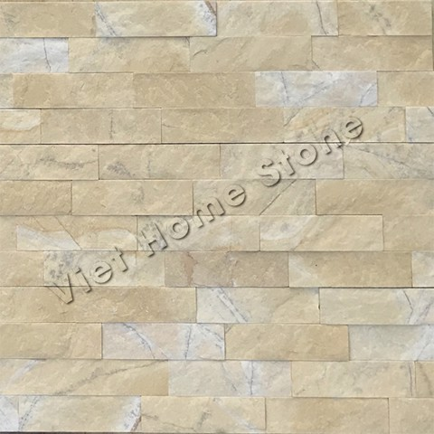 Yellow Ledger Marble Wall Panel