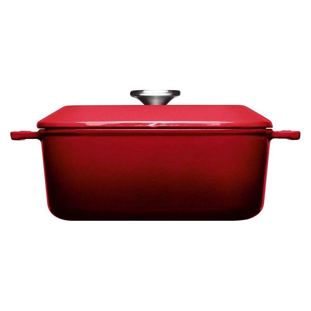 chao vuong woll iron casserole square 24x24cm chili red nhap duc