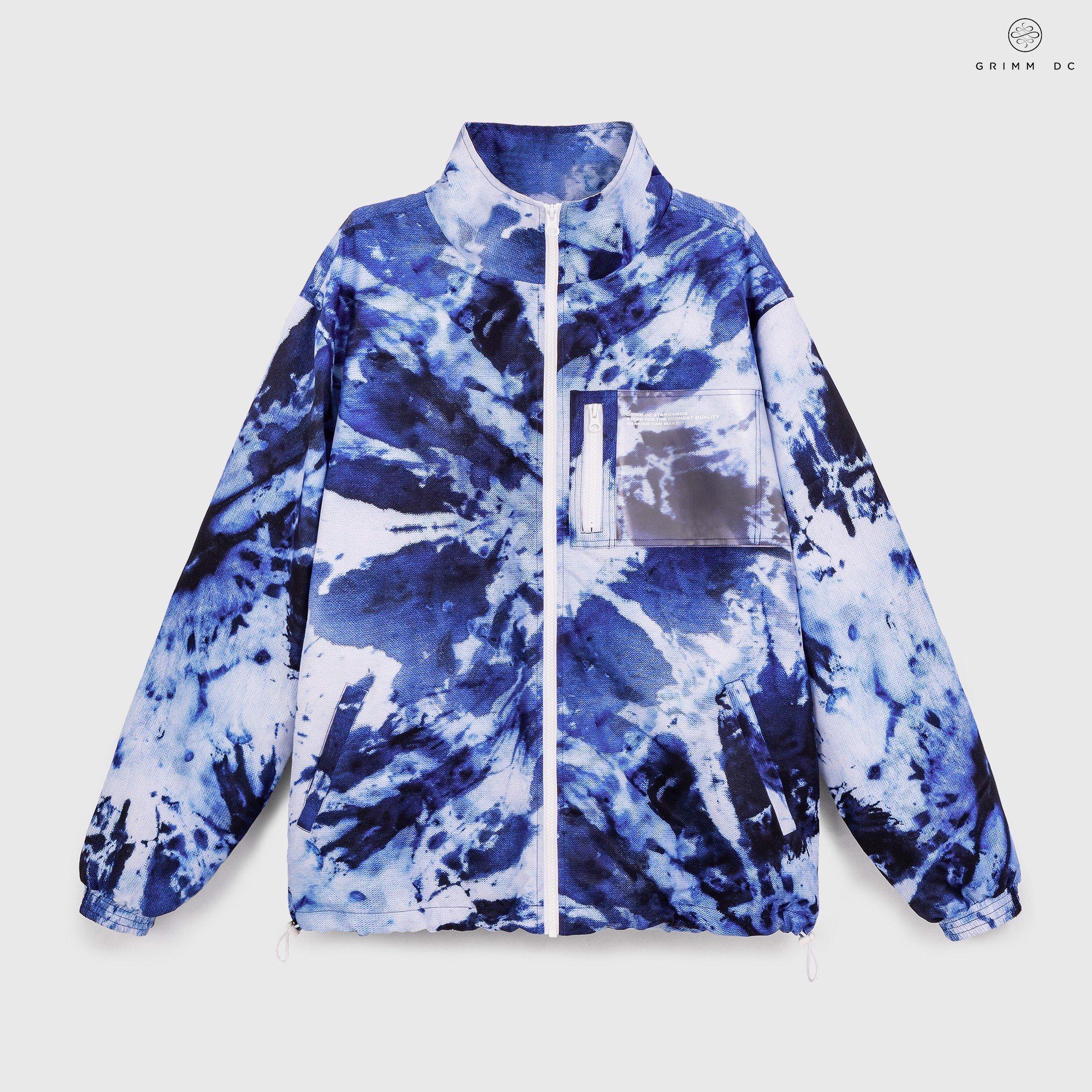 Tie-dye windbreaker jacket - Thermal Frost // Xanh biển