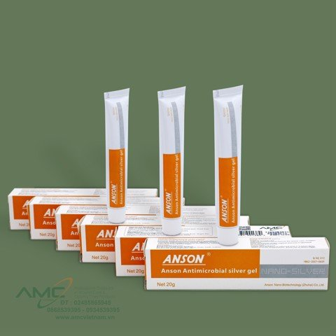 Anson Antimicrobial Silver Gel 20g
