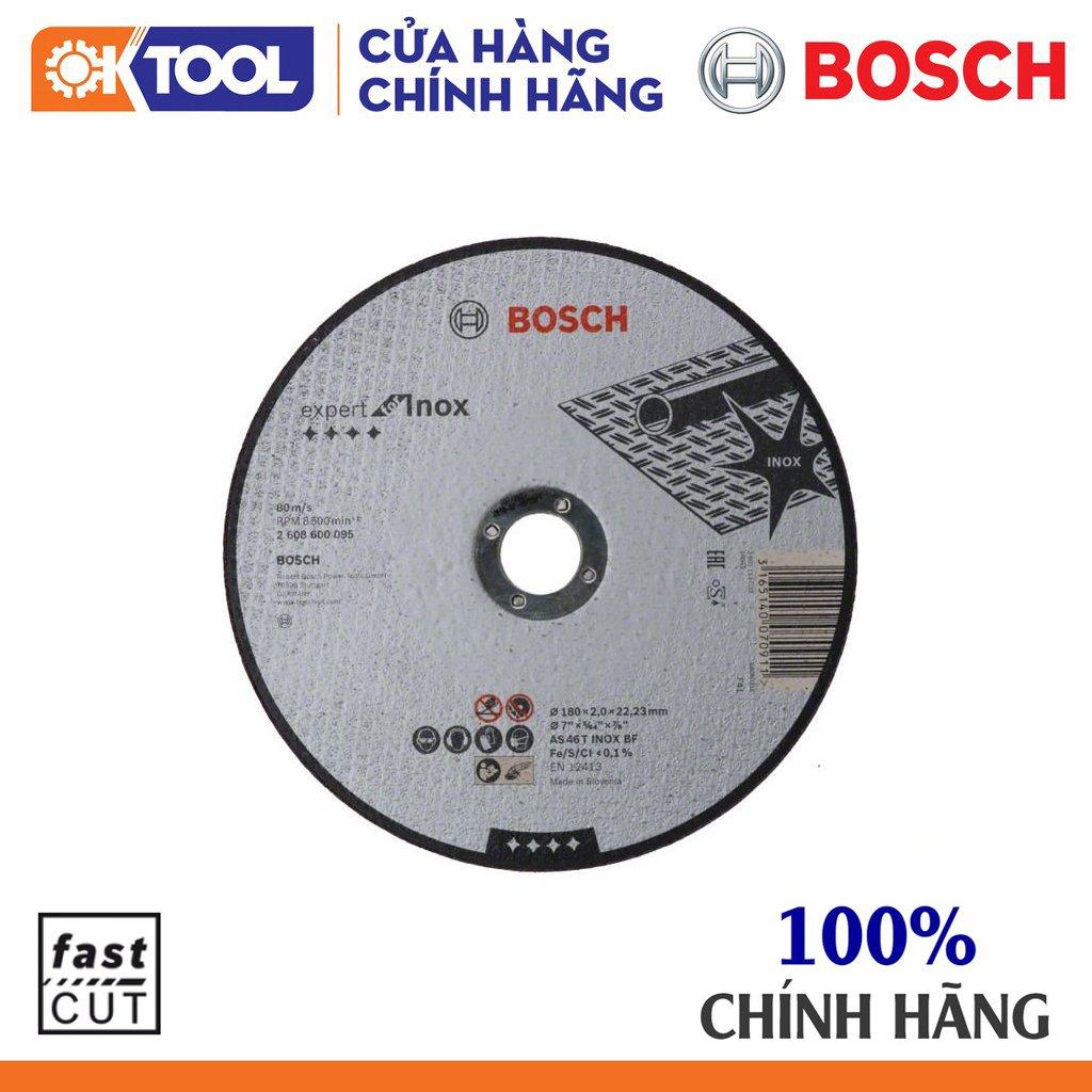 Đá cắt inox BOSCH (180X2X22.2MM)
