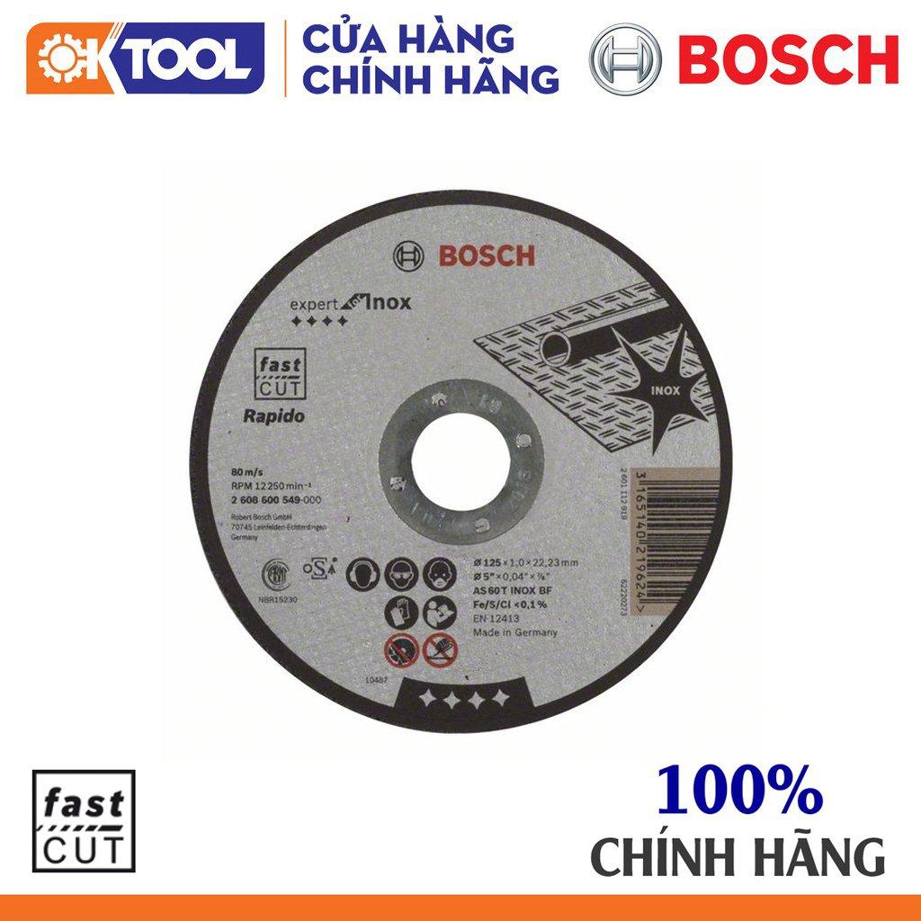 Đá cắt inox BOSCH (125X1.0X22.2MM)