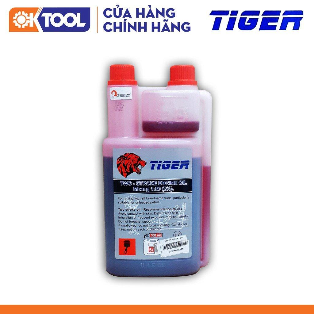 Dầu 2T 2 nắp TIGER 1 lít/bình_1:50 (Loại đỏ)