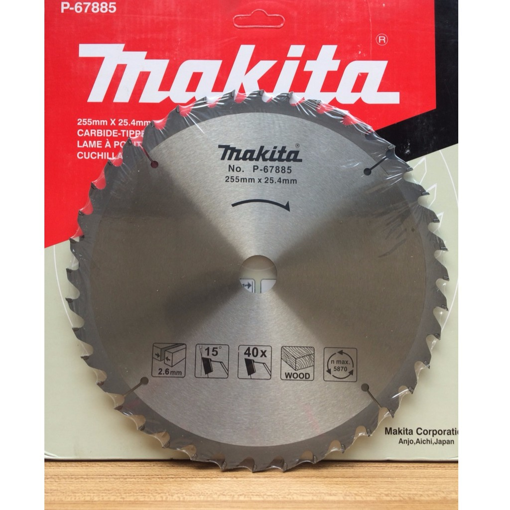 Lưỡi cưa gỗ MAKITA P-67885 ( 255X25.4X40T )