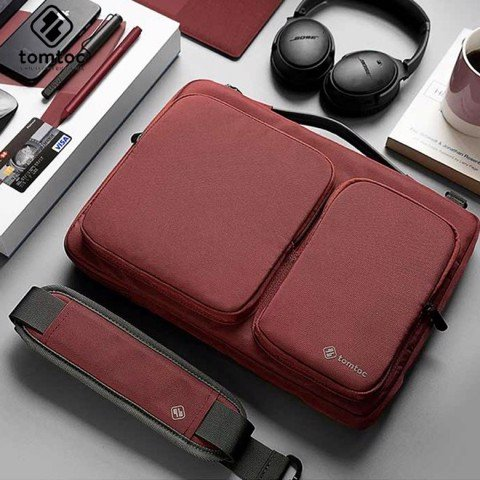 TÚI ĐEO TOMTOC 360* SHOULDER BAGS - RED (T085)