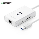 CÁP USB 3.0 TO LAN + USB 3.0 + SD/TF UGREEN (20248) MV