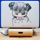 CASE ỐP MACBOOK IN HÌNH HUG A PUG