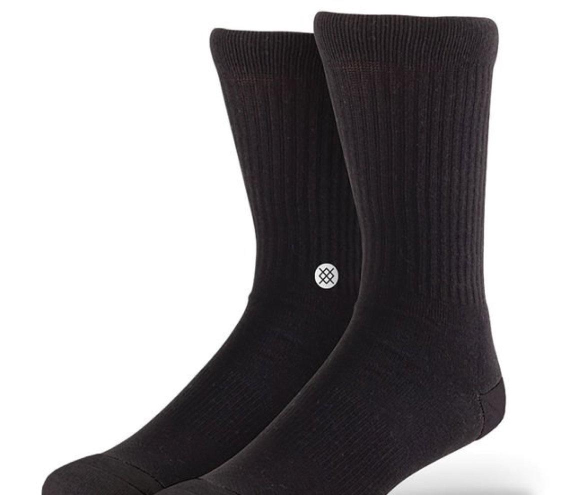 Stance Icon Crew Sock White