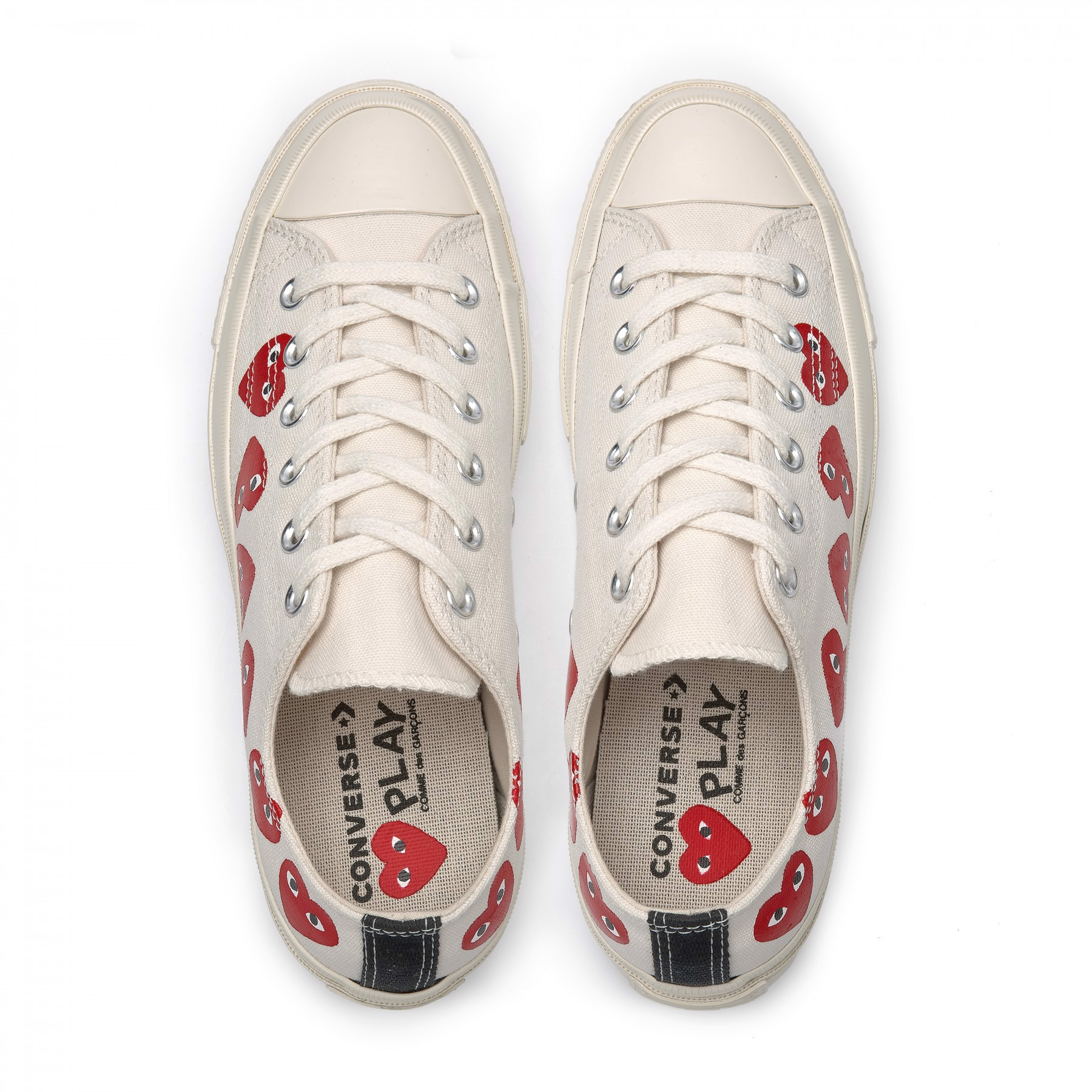 Converse CDG Play Low White MultiHeart