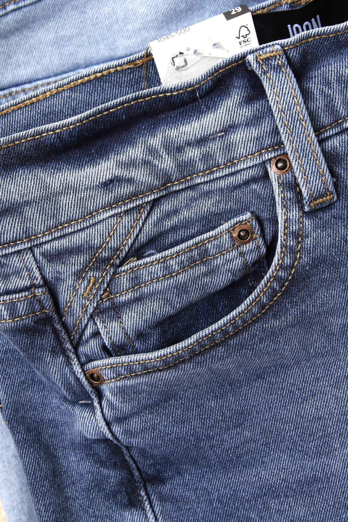 Quần Short Jean Blue Wash ICON Signature