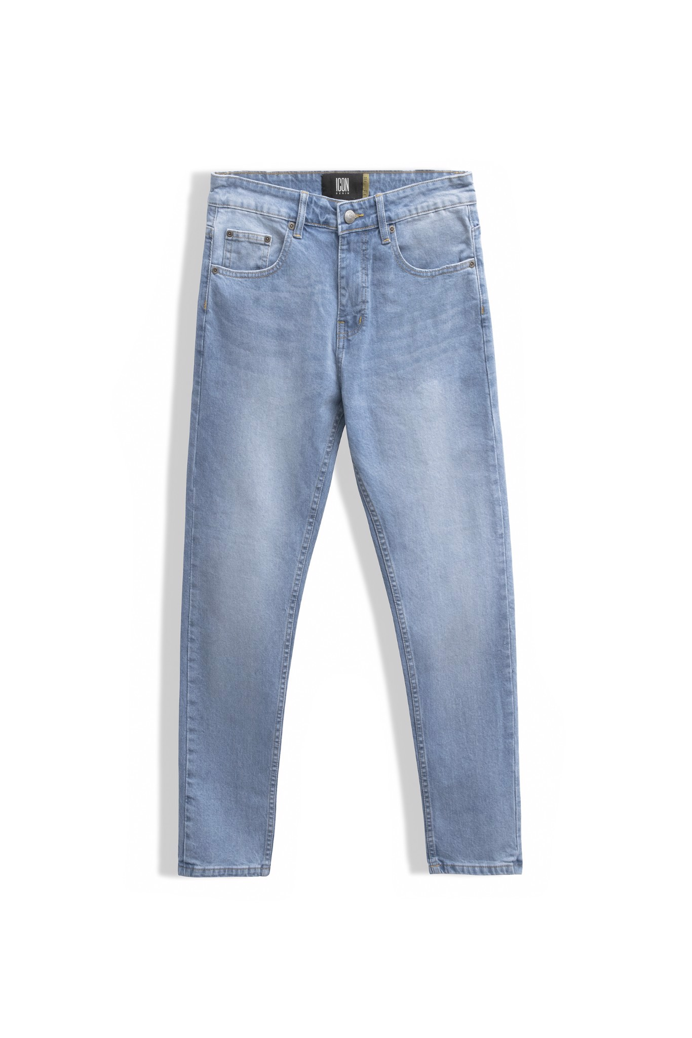 Quần Jean Slim-fit Trơn Light Blue Mid Wash