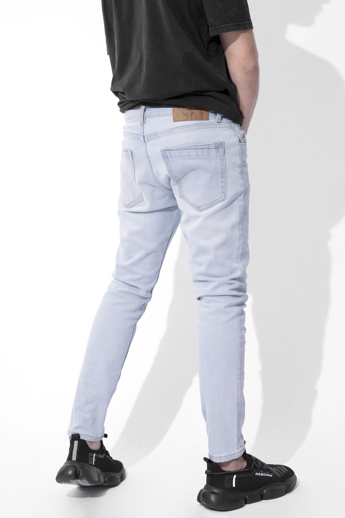 Quần Jean Skinny Faded Blue