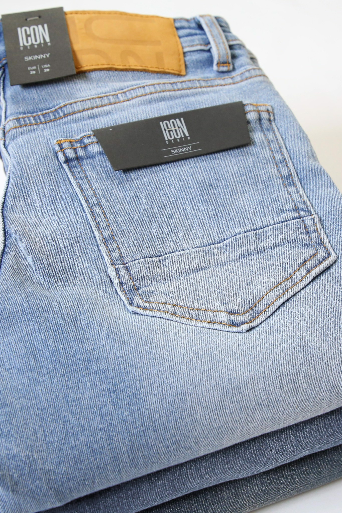Quần Jean Skinny In Light Blue W Rips