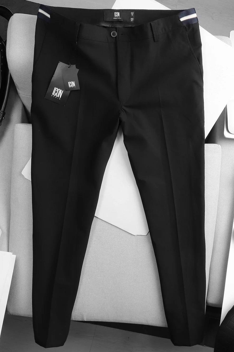 Quần Tây All Black W White Waist