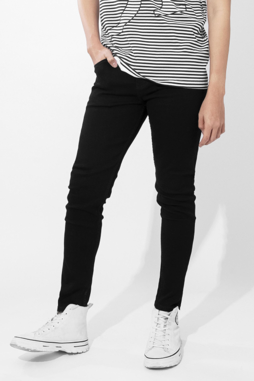 Quần Jean Skinny In Dark Black
