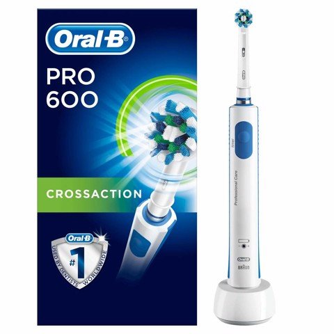 Bàn chải đánh răng điện Braun Oral-B Pro 600 3D CrossAction - Made in Germany