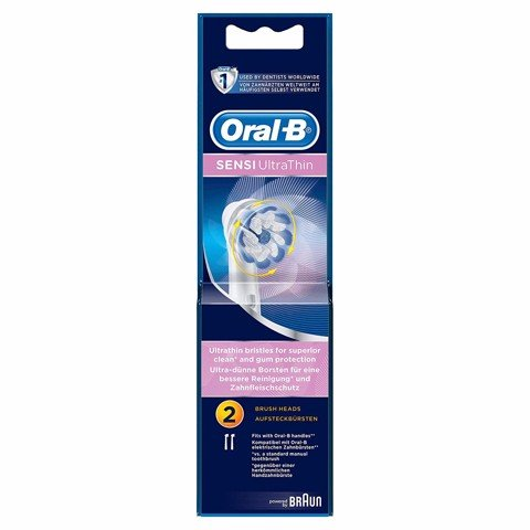 Hộp 2 Đầu Bàn Chải Oral-B SENSI UltraThin- Made In Germany