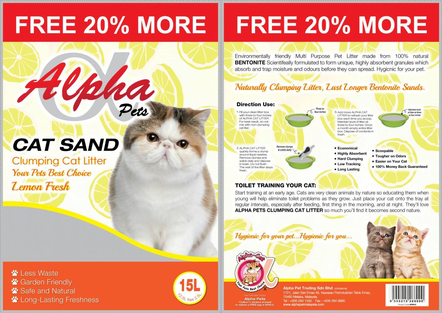 Cát Alpha Pets 15L