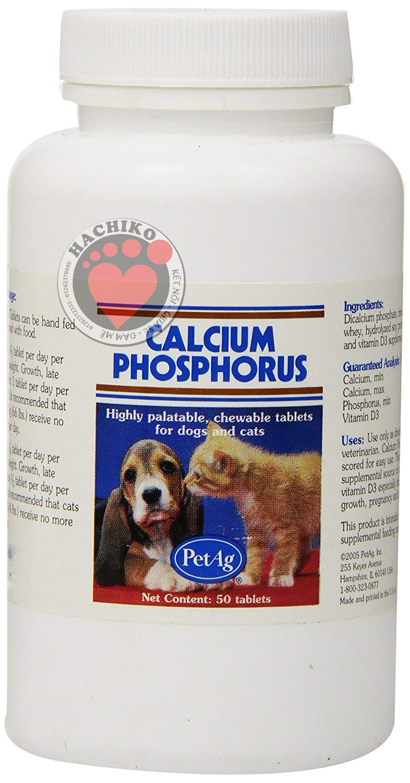 Canxi Calcium Phosphorus Cho Chó Mèo 50 Viên
