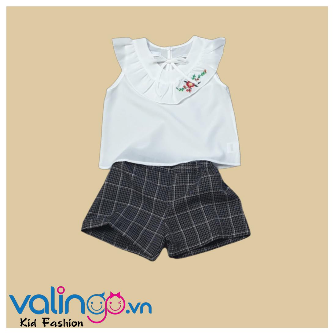Set áo kiểu + Quần short cho bé gái