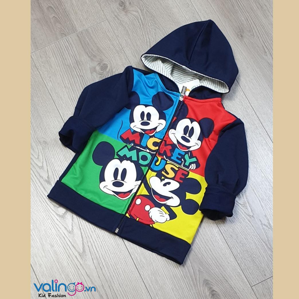 Áo khoác da cá in in 3D Mickey mouse