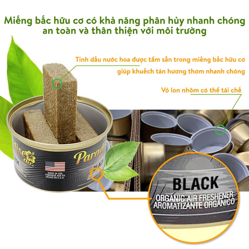Sáp thơm Paradise Air Fresh 42g - Black/ORG-003