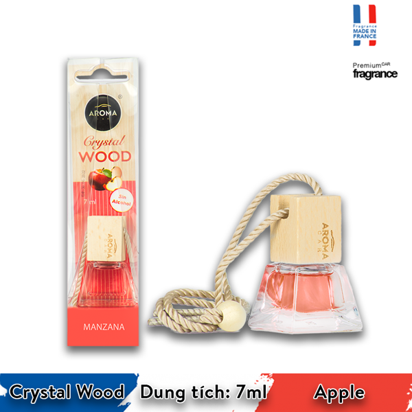 Tinh dầu treo Aroma Car Crystal Wood 7ml - Apple/ACCW02