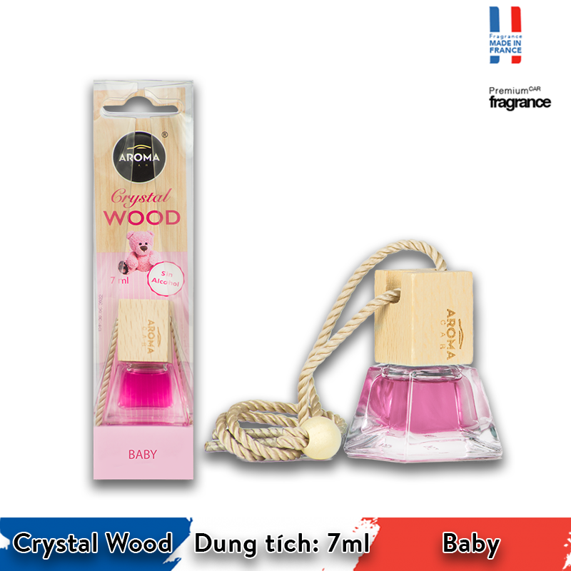 Tinh dầu treo Aroma Car Crystal Wood 7ml - Baby/ACCW03