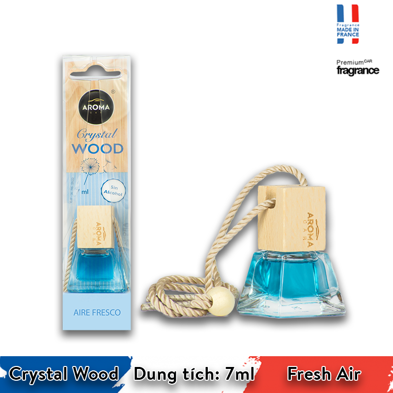 Tinh dầu treo Aroma Car Crystal Wood 7ml - Fresh Air/ACCW05