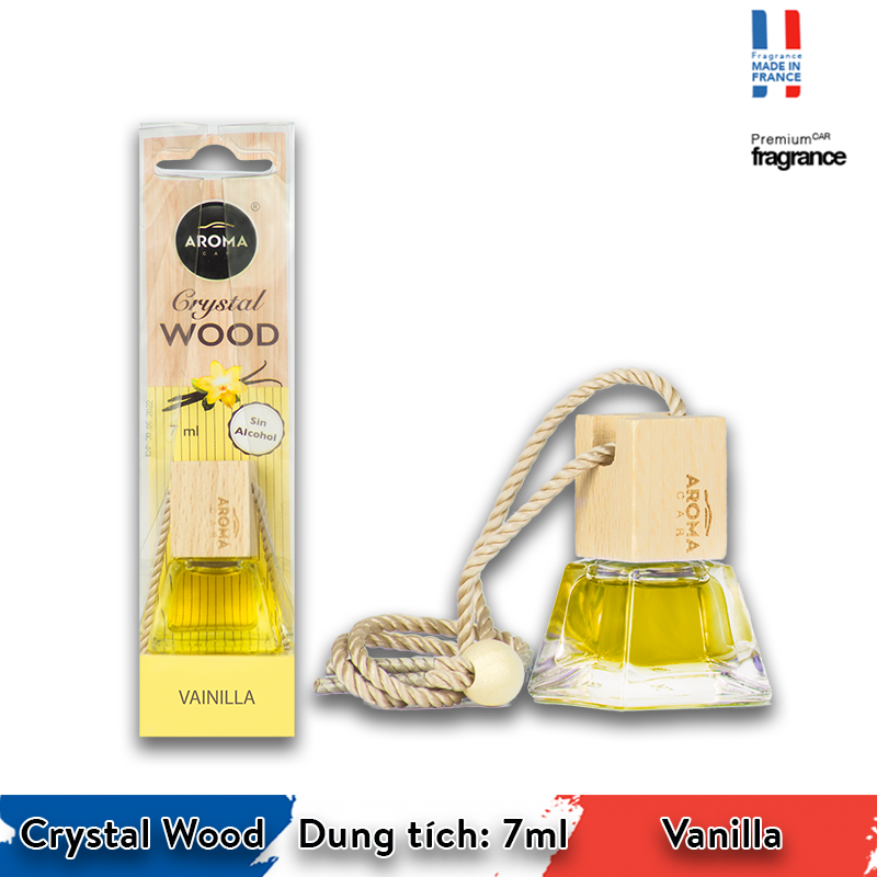 Tinh dầu treo Aroma Car Crystal Wood 7ml - Vanilla/ACCW04