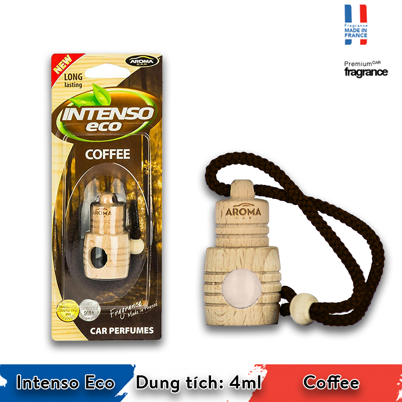 Tinh dầu treo Aroma Car Intenso Eco 4ml - Coffee/ACIE03