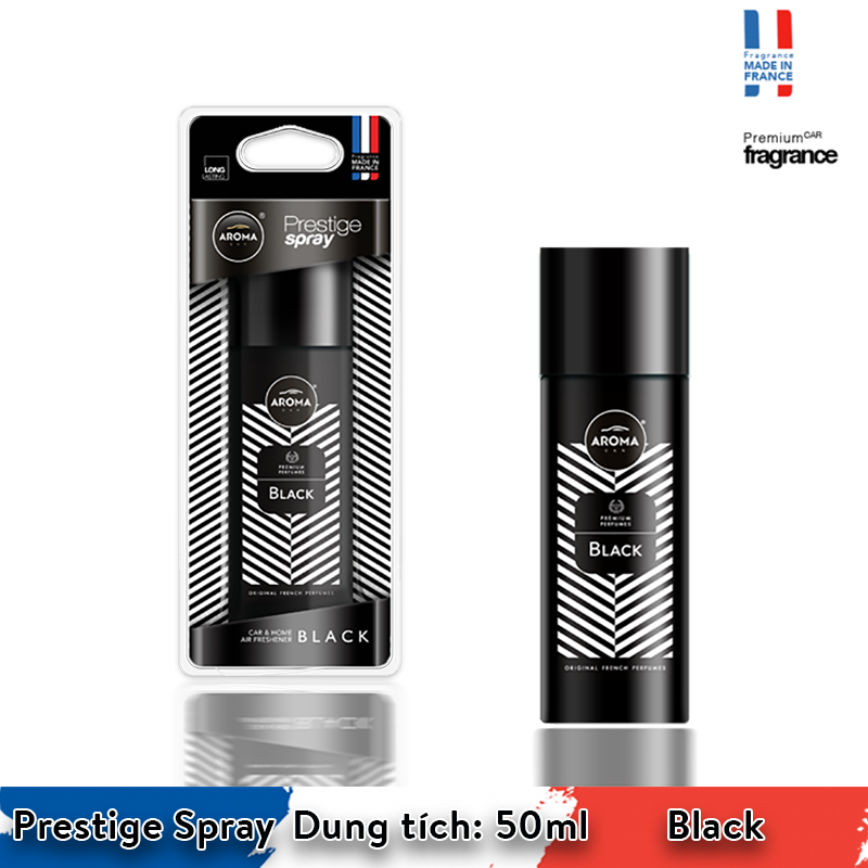 Nước hoa xịt Aroma Car Prestige Spray 50ml - Black/ACPS01