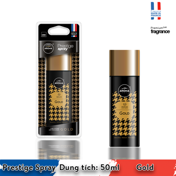 Nước hoa xịt Aroma Car Prestige Spray 50ml - Gold/ACPS02
