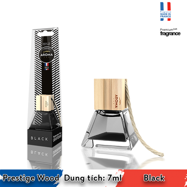Tinh dầu treo Aroma Car Prestige Wood 7ml - Black/ACPW01