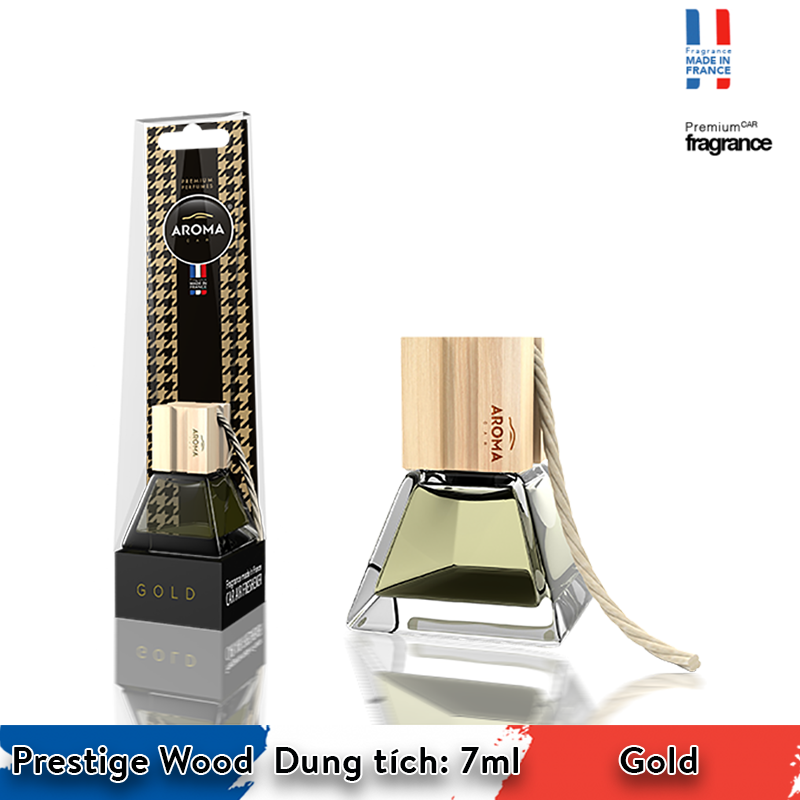 Tinh dầu treo Aroma Car Prestige Wood 7ml - Gold/ACPW02