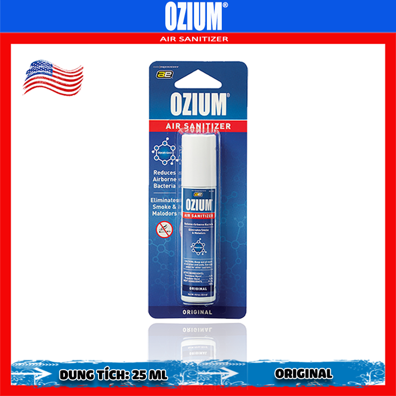 Bình xịt khử mùi Ozium Air Sanitizer Spray 0.8 oz (22.6g) Original/OZ-1