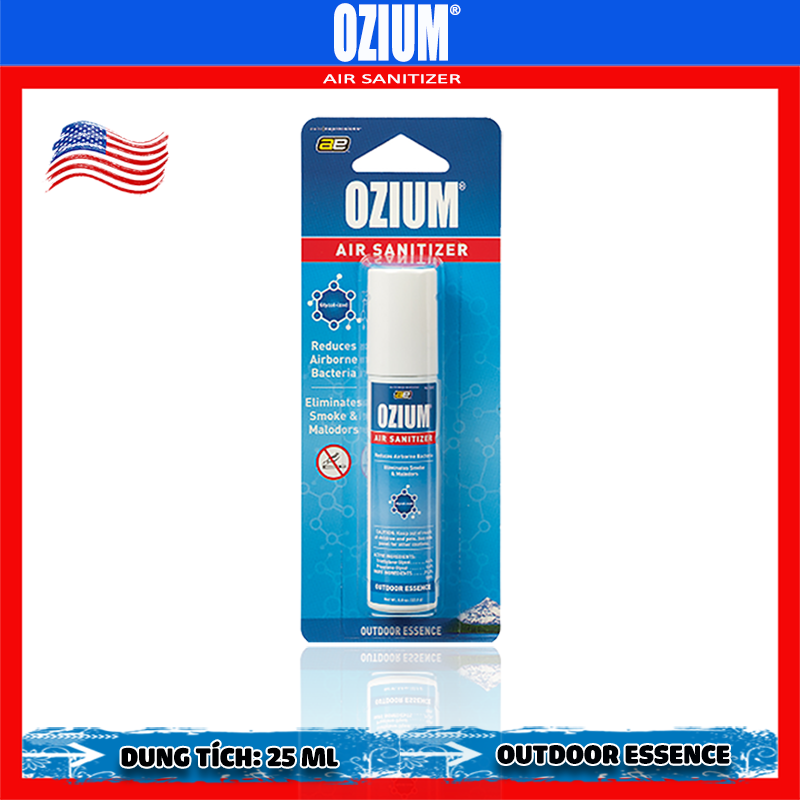Bình xịt khử mùi Ozium Air Sanitizer Spray 0.8 oz (22.6g) Outdoor Essence/OZ-31