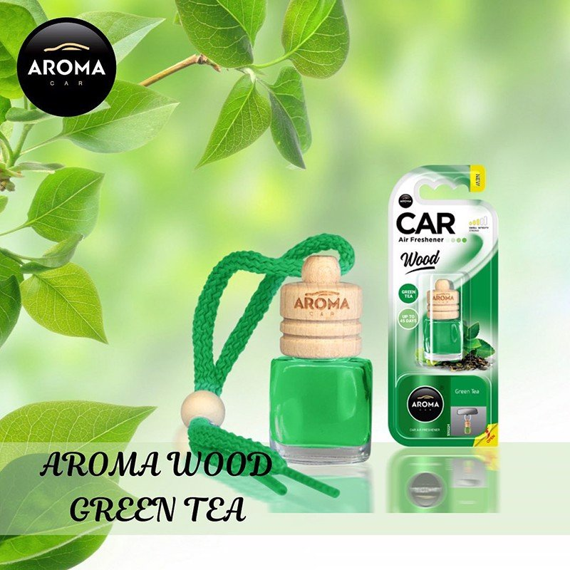 Tinh dầu treo Aroma Car Wood 6ml - Green tea/ACW6-13