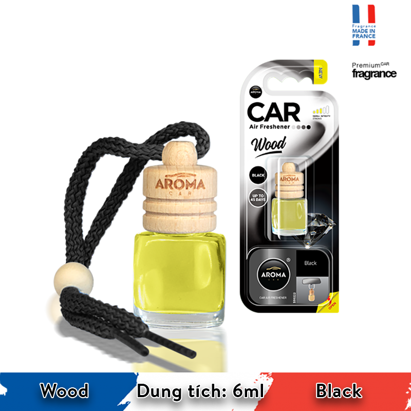 Tinh dầu treo Aroma Car Wood 6ml - Black/ACW6-03