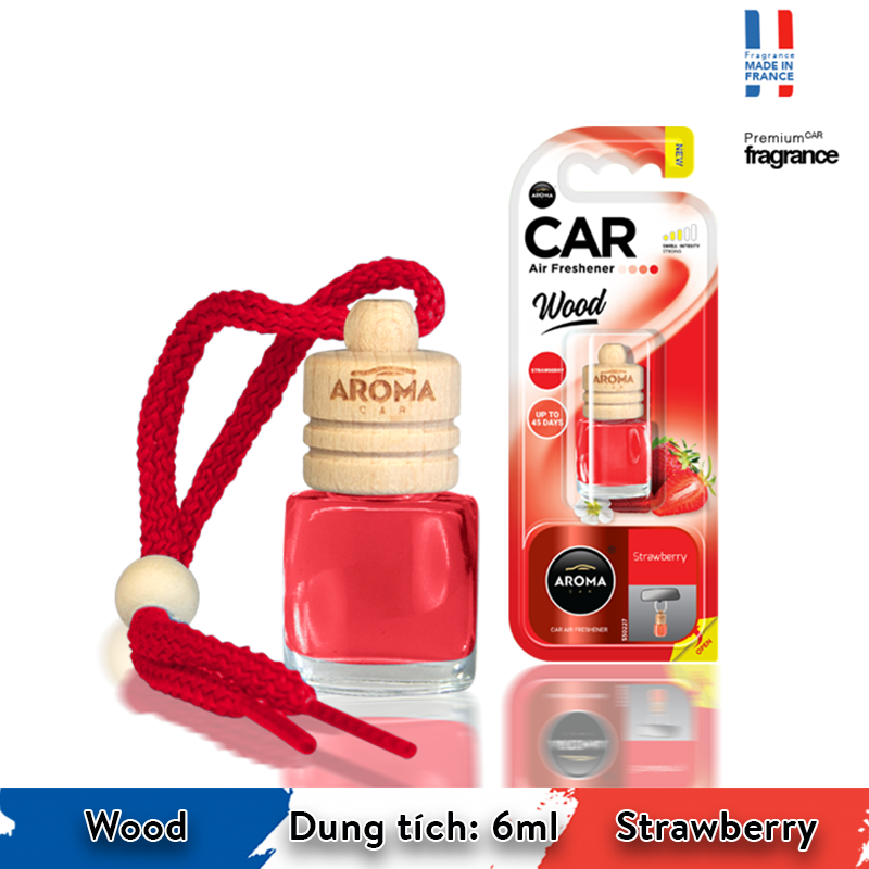 Tinh dầu treo Aroma Car Wood 6ml - Strawberry/ACW6-09
