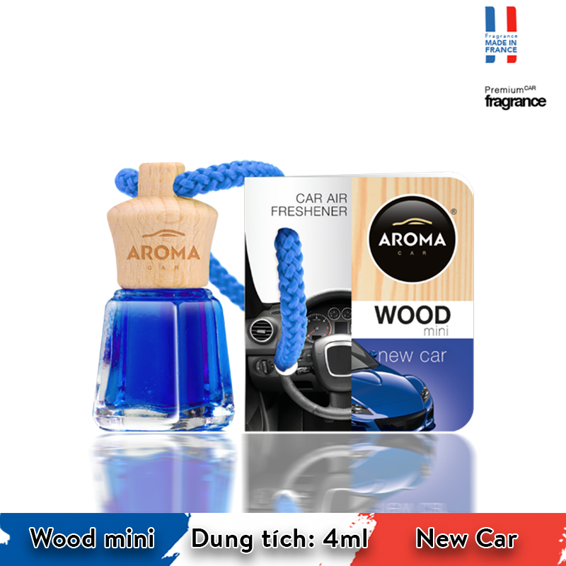 Tinh dầu treo Aroma Car Wood mini 4ml - New Car/ACW4-03